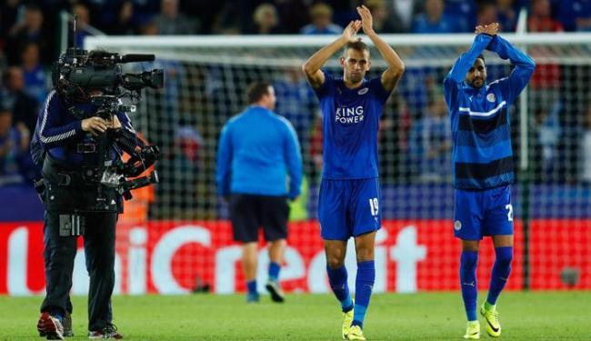 Autor do gol da Vitória, Slimani agradeceu o apoio dos torcedores - Foto: Eddie Keogh | Reuters