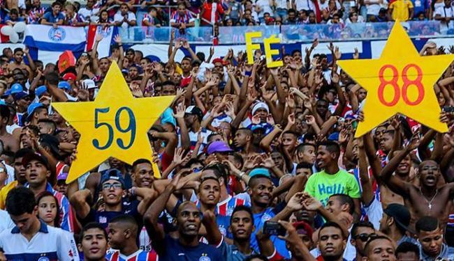 Mesmo sem promoção, promessa é de recorde no duelo de sábado, 3, na Fonte - Foto: Divulgação l Itaipava Arena Fonte Nova