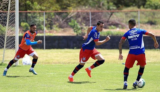 Jogadores finalizaram nesta sexta-feira, 9, a preparação para a jogo - Foto: Felipe Oliveira l EC Bahia