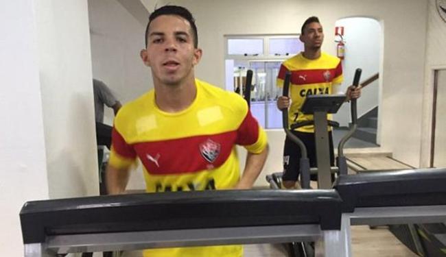 Jogadores do Vitória treinaram nesta quinta-feira, 1º, ainda em Curitiba - Foto: Divulgação l EC Vitória