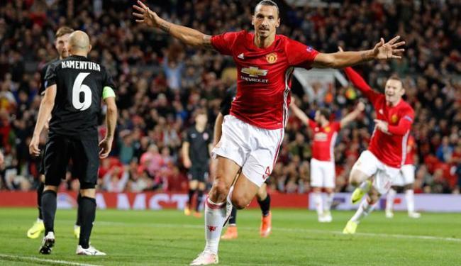 O sueco marcou o único gol da partida e garantiu a vitória do United nesta quinta-feira, 29 - Foto: Darren Staples   Reuters