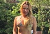 Mulher de Stênio Garcia se exibe sensual na beira da piscina | Foto: