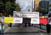 Manifestantes deixam trânsito congestionado na avenida Tancredo Neves | Foto:
