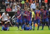 Valencia é multado em R$ 5 mil por garrafa arremessada em jogadores do Barcelona | Foto: