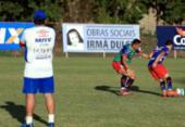 Com Hernane, Bahia faz treino tático no Fazendão | Foto: