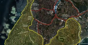 Confira as Áreas de Restrição a Circulação (ARC) em vermelho no mapa - Foto: Transalvador | Divulgação