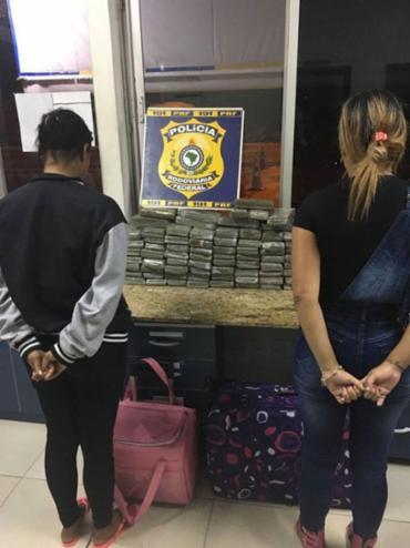 Elas transportavam 73 tabletes de maconha de São Paulo para Aracaju - Foto: Divulgação   PRF