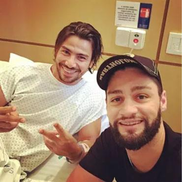 Mariano recebeu a visita de Munhoz nesta sexta - Foto: Reprodução | Instagram