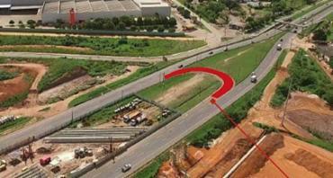 Obras de viaduto interditam retorno - Foto: Ascom | Conder
