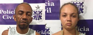 O casal estava a bordo de um carro modelo HB20 roubado em Salvador - Foto: Polícia Civil | Divulgação