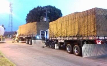 24.000 litros de cerveja e 49 unidades de arrebite estavam nos veículos no momento da apreensão - Foto: PRF   Divulgação