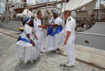 Navio-escola espanhol está aberto a visitação no Porto de Salvador   Foto: Luciano da Matta l Ag. A TARDE