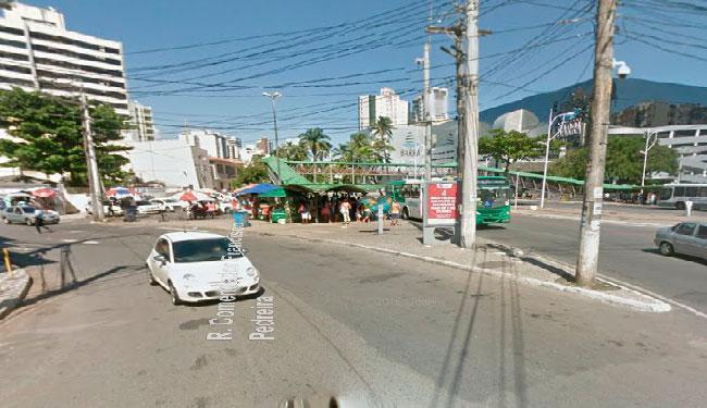 Obra será no cruzamento com a rua Comendador Francisco Pereira (na altura do Vitória Center) - Foto: Reprodução   Google Maps