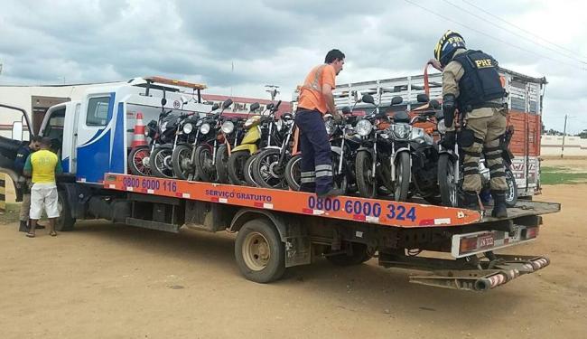 Operação Cavalo de Aço em Conquista apreendeu 62 motocicletas por diversos motivos - Foto: Divulgação | PRF
