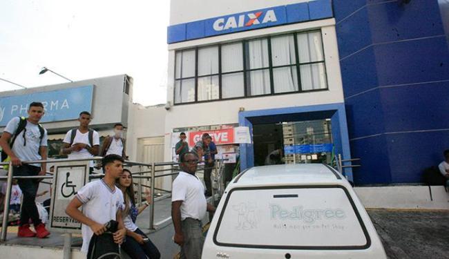 Caixa era o único banco que ainda estava em greve - Foto: Margarida Neide   Ag. A TARDE