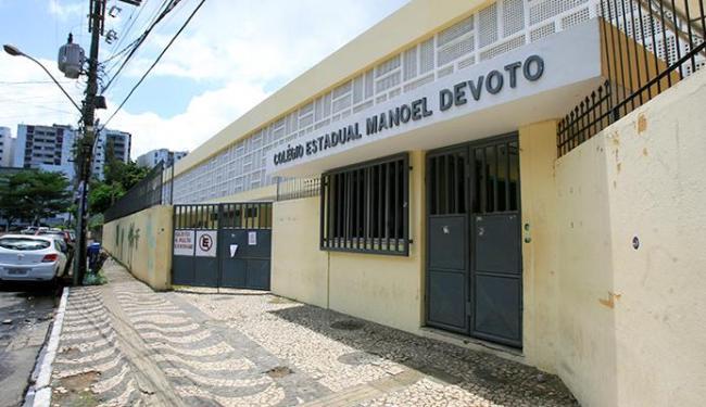 Colégio Manoel Devoto foi um dos que não tiveram aula - Foto: Adilton Venegeroles | Ag. A TARDE
