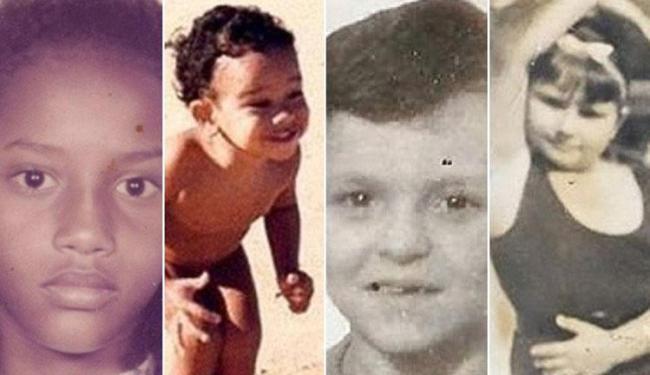 Os artistas postaram fotos da infância nas suas redes sociais para comemorar o Dia das Crianças - Foto: Reprodução