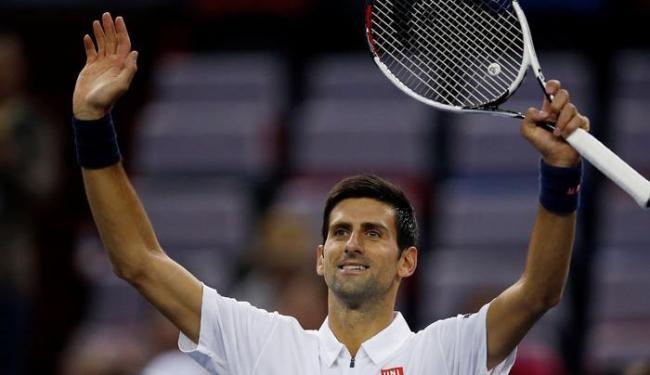Djokovic venceu com autoridade e passou de fase em Xangai - Foto: Aly Song   Reuters
