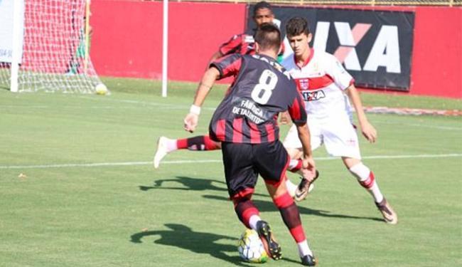 Leãozinho garantiu vaga nas oitavas de final ao eliminar o CRB - Foto: Francisco Galvão l EC Vitória
