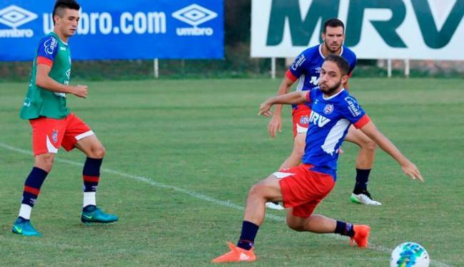 Jogadores participaram de uma atvidade de ataque contra defesa - Foto: Felipe Oliveira | EC Bahia