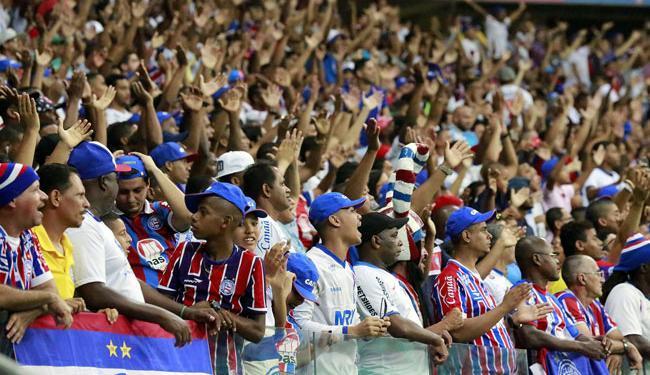 Os ingressos podem se garantidos na internet com 50% de desconto - Foto: Felipe Oliveira | EC Bahia