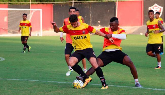 O Vitória se reapresentou nesta segunda-feira, 3, e treinou forte para pegar o Grêmio - Foto: Francisco Galvão   EC Vitória