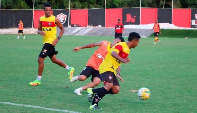O Vitória treinou forte para pegar o Grêmio nesta terça-feira, 4 - Foto: Francisco Galvão | EC Vitória