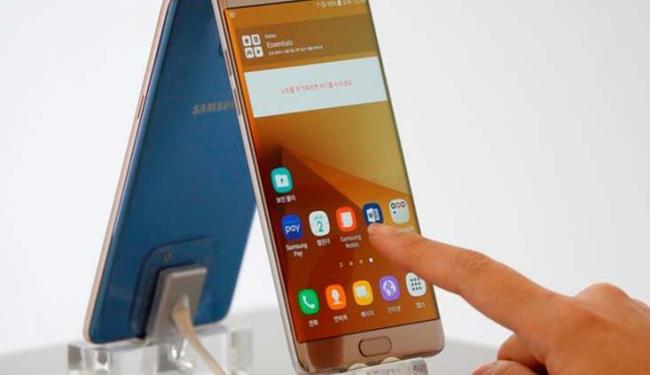 Novo Galaxy Note 7, da Samsung, pega fogo nos Estados Unidos - Foto: Kim Hong-Ji | Agência Reuters