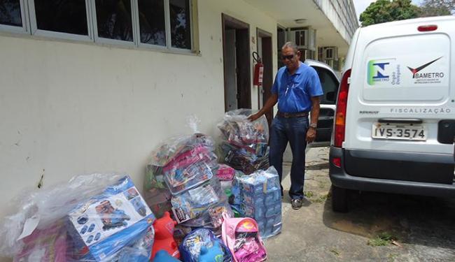 Brinquedos apreendidos foram retirados de circulação pelo Ibametro - Foto: Ascom | Ibametro