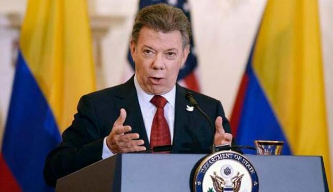 Juan Manuel Santos, presidente da Colômbia, recebe o Prêmio Nobel da Paz - Foto: EPA | Olivier Douliery | Arquivo Agência Lusa