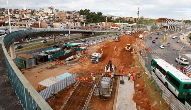 Interdição faz parte da continuação das obras da linha 2 do metrô - Foto: Joá Souza | Ag. A TARDE