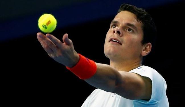 Roanic se preparando para sacar na estreia no ATP 500 de Pequim, nesta terça-feira, 4 - Foto: Thomas Peter | Reuters