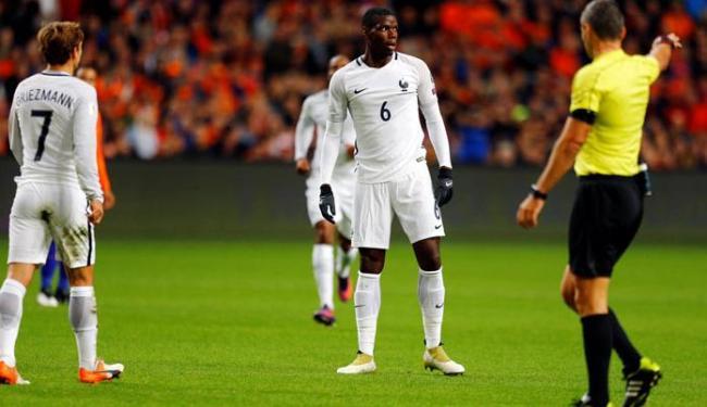 Pogba foi o autor do gol da vitória da França sobre a Holanda - Foto: Michael Kooren | Reuters
