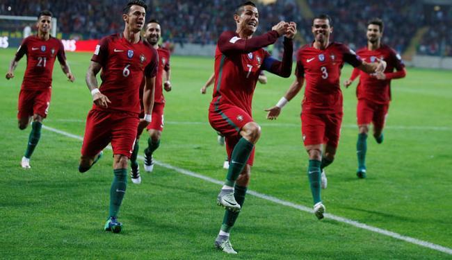 Cristiano Ronaldo foi autor de um dos gols de Portugal - Foto: Rafael Marchante | Reuters