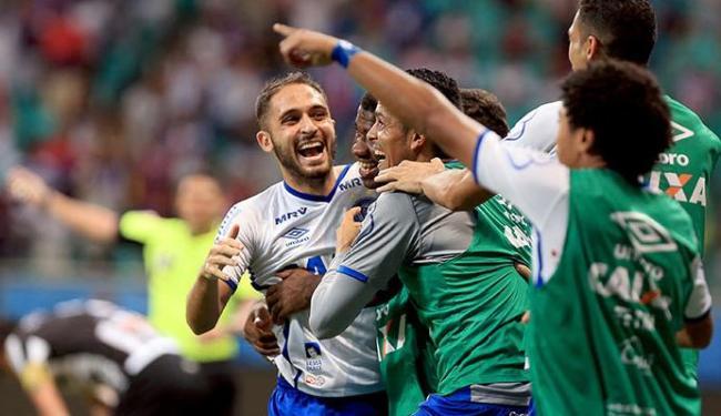 Régis marcou gol no último jogo contra o Tupi - Foto: Felipe Oliveira | EC Bahia | Divulgação