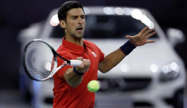 Djokovic venceu Fábio Fognini na estreia do Master 1000 de Xangai - Foto: Aly Song | Reuters