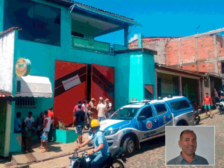 Joilson (em destaque) foi assassinado na própria distribuidora de bebidas - Foto: Camamu Notícias | Divulgação