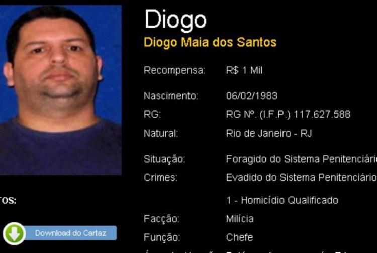 Diogo era procurado pela polícia - Foto: Reprodução