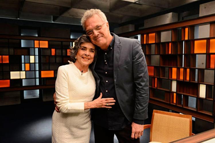 Betty Faria gravou o 'Programa com Bial' - Foto: Divulgação   GNT