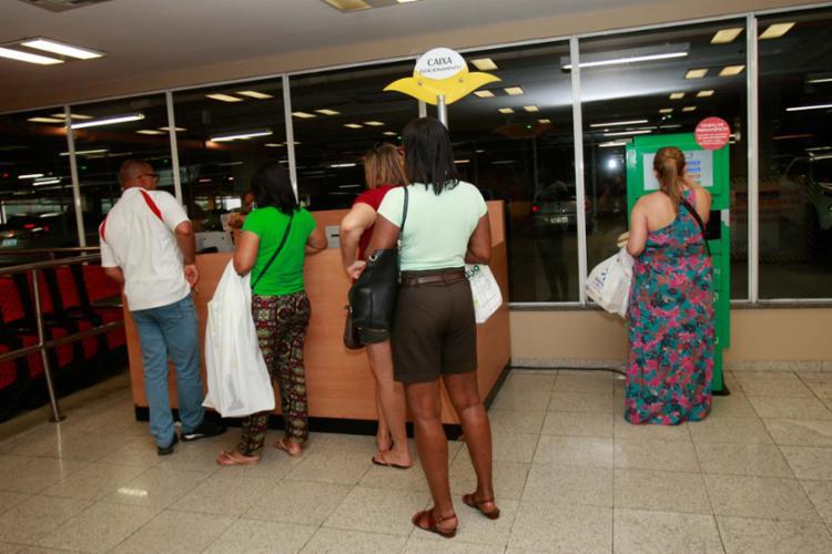 Ao pagar o estacionamento em shoppings, o contribuinte pode acumular créditos - Foto: Margarida Neide | Ag. A TARDE