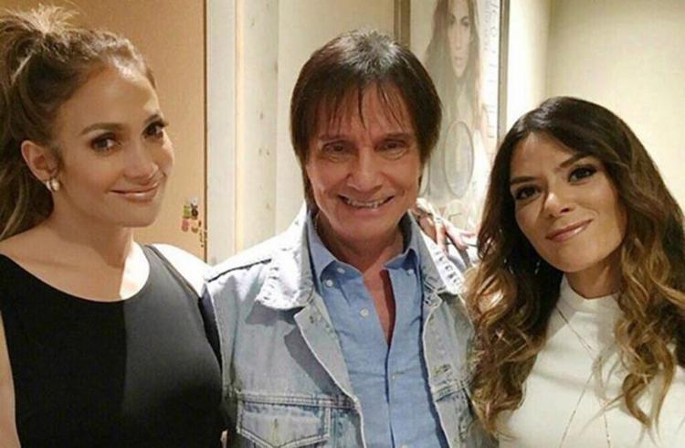 Jennifer Lopez, Roberto Carlos e Kany García em Los Angeles - Foto: Reprodução | Instagram