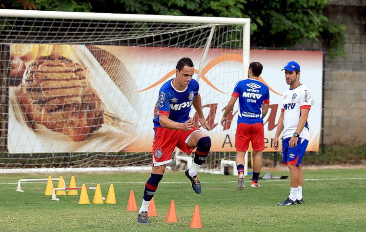 Atacante revelou papo com Guto antes de atuar como ponta - Foto: Felipe Oliveira l EC Bahia