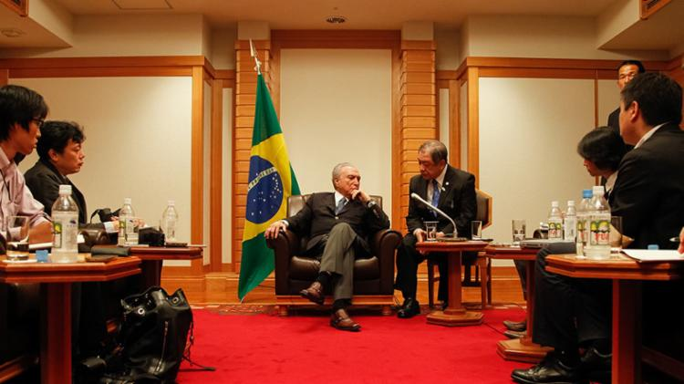 Temer também deu entrevista à imprensa japonesa - Foto: Beto Barata | PR