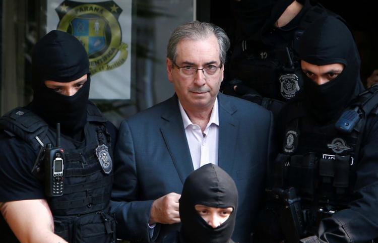 Eduardo Cunha foi preso em outubro de 2016 pela PF - Foto: Rodolfo Buhrer | Agência Reuters