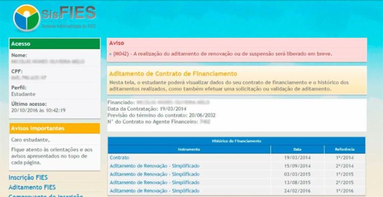 Número de acessos deixa o site do SisFies congestionado nesta quinta - Foto: Reprodução | Fies