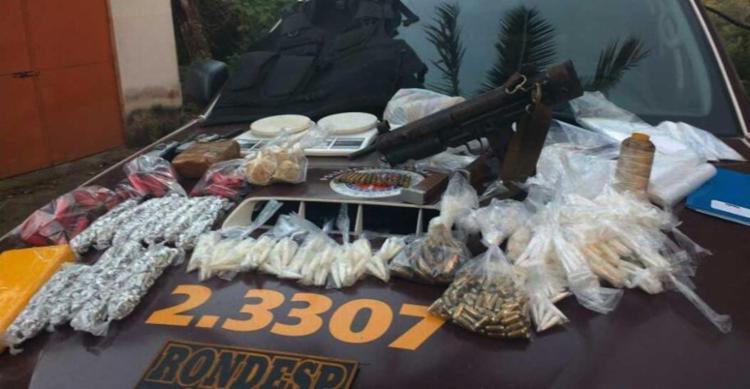 Material apreendido pelos policiais em Águas Claras - Foto: DSC | Polícia Militar