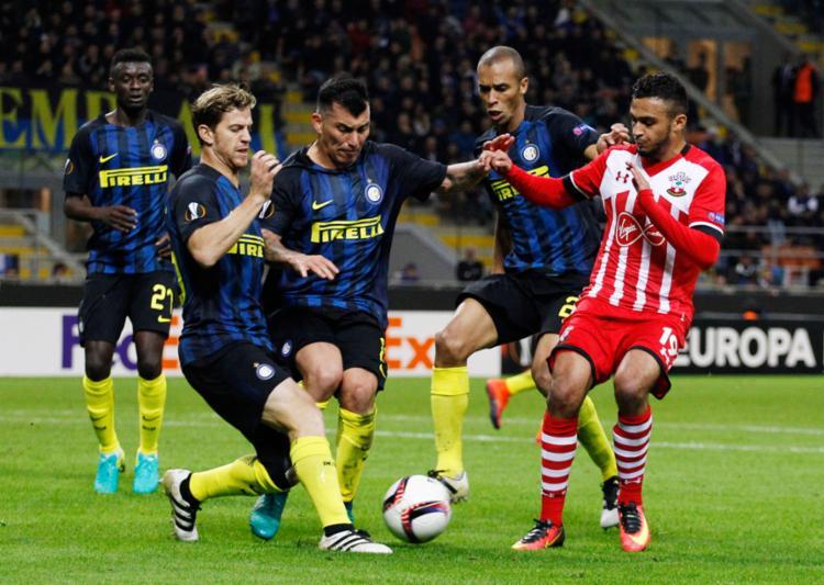 A Inter suou para vencer o Southampton por 1 a 0 - Foto: Alessandro Garofalo | Reuters
