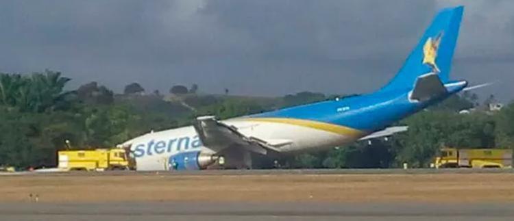 Aeronave teve um problema técnico no trem de aterrissagem - Foto: Reprodução | WhatsApp