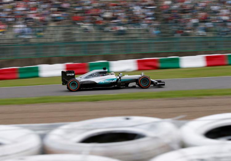 Hamilton completou o treino com o tempo de 1min37s428 - Foto: Toru Hanai | Reuters