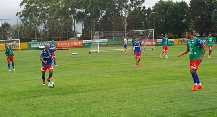 A equipe participou de um treino tático na manhã desta sexta - Foto: Divulgação | EC Bahia